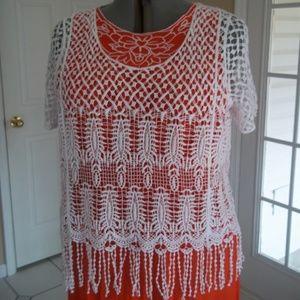 Bright White Crochet Pop Over